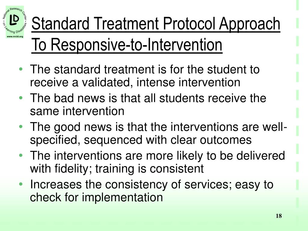 Standard Treatment Protocol Approach To Responsive-to-Intervention