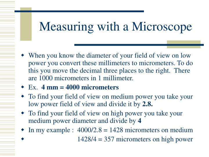 Measuring with a Microscope