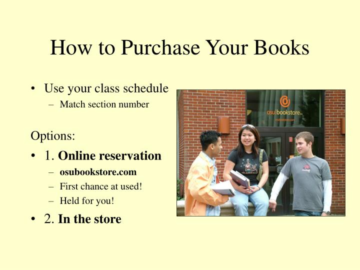 How to Purchase Your Books
