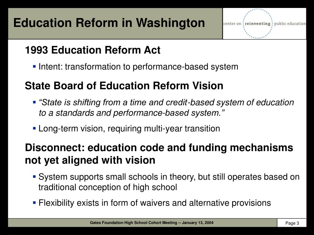 Education Reform in Washington