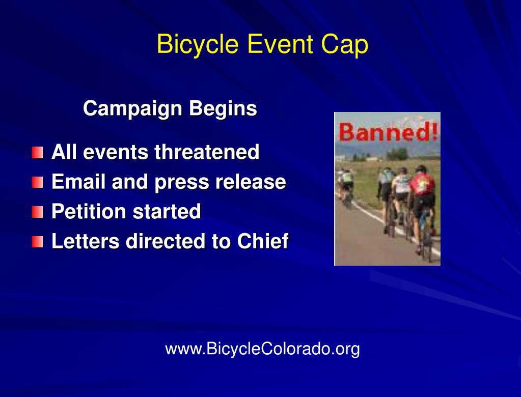 Bicycle Event Cap