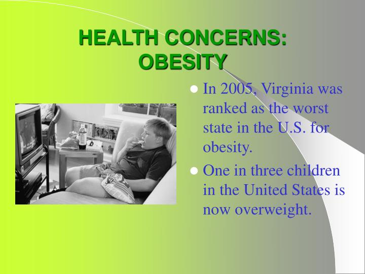 Health concerns obesity