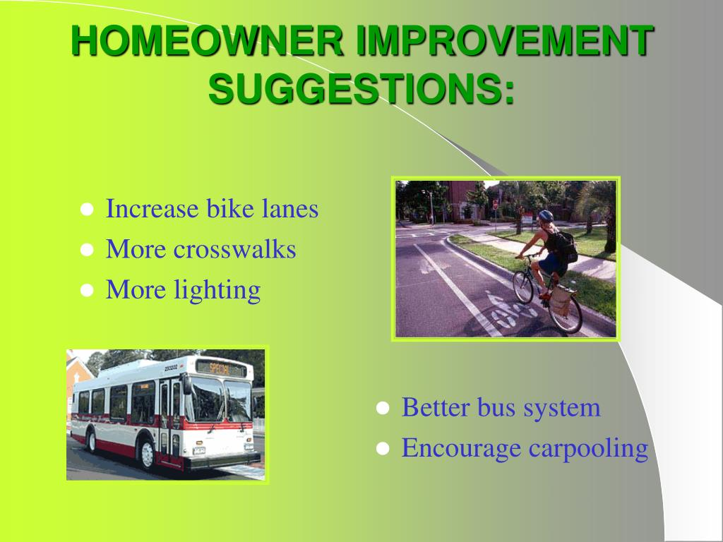 Increase bike lanes