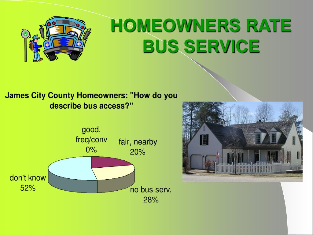 HOMEOWNERS RATE BUS SERVICE