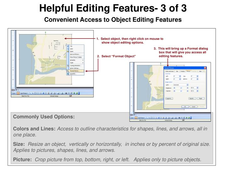 Helpful Editing Features- 3 of 3