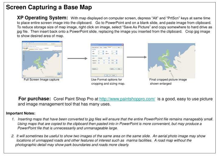 Screen Capturing a Base Map