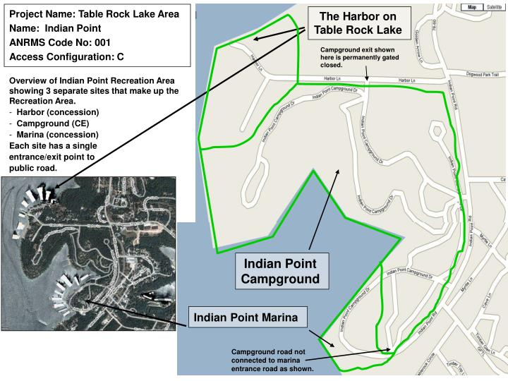 Project Name: Table Rock Lake Area Name:  Indian Point