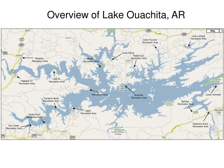 Overview of Lake Ouachita, AR