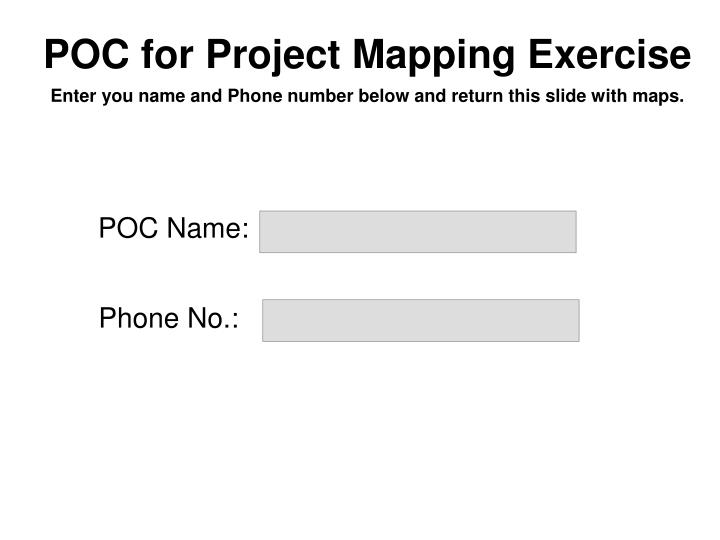 POC for Project Mapping Exercise