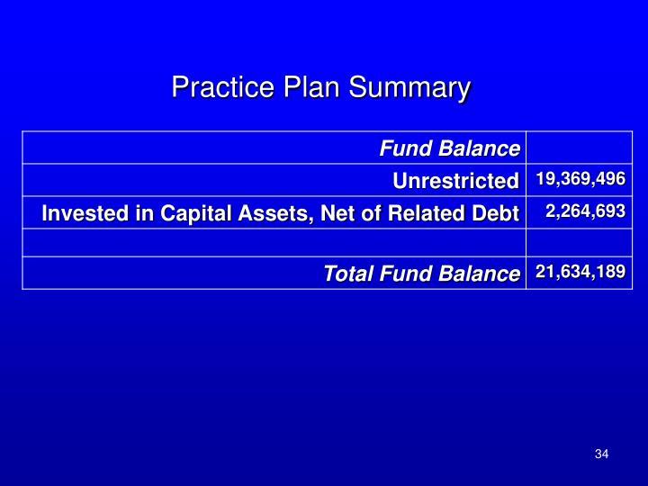 Practice Plan Summary