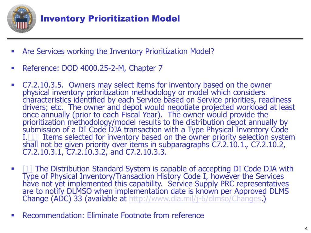 Inventory Prioritization Model