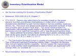 inventory prioritization model