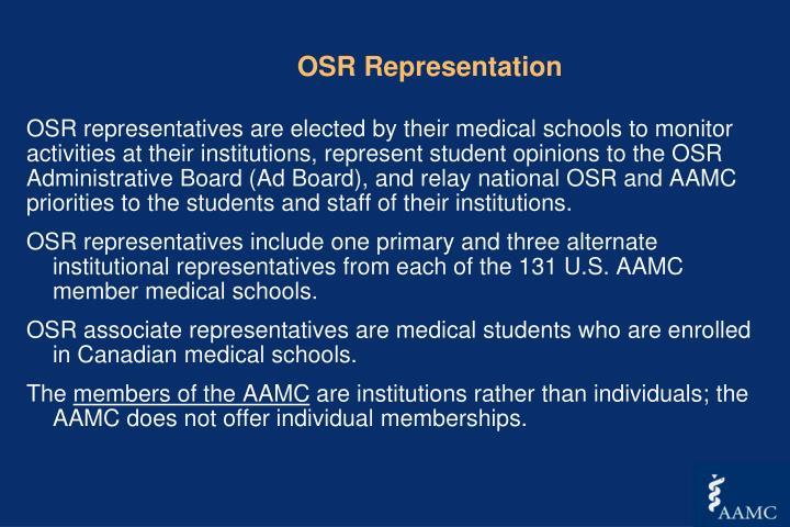 OSR Representation