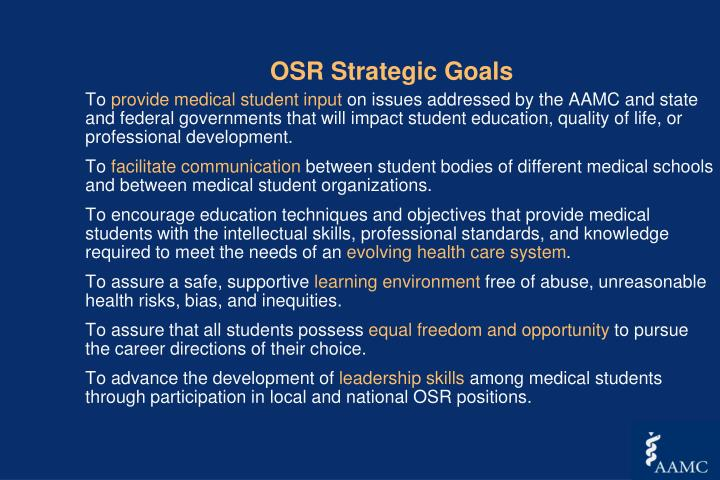 OSR Strategic Goals
