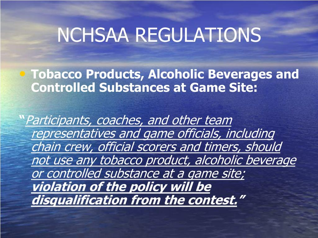 NCHSAA REGULATIONS
