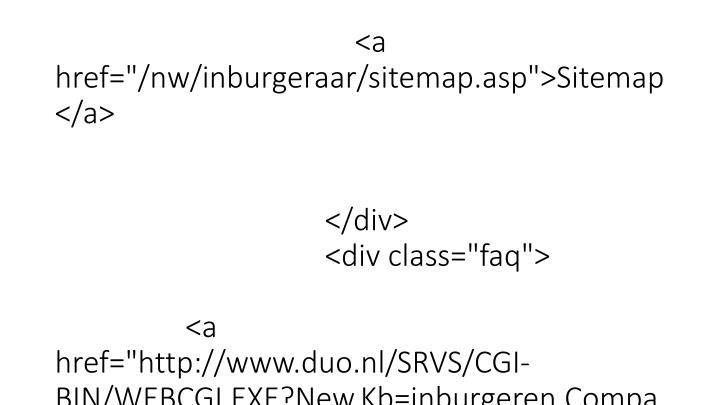 """</div>                         <div id=""""navigatieZoek"""">                              <form method=""""get"""" action=""""http://www.inburgeren.nl/nw/Inburgeraar/zoekresultaat.asp"""">                                 <fieldset>"""