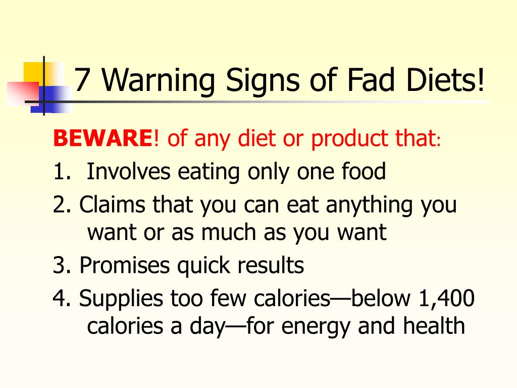 7 Warning Signs of Fad Diets!