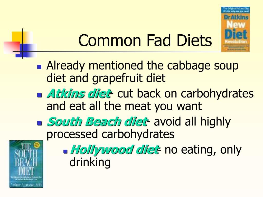 Common Fad Diets