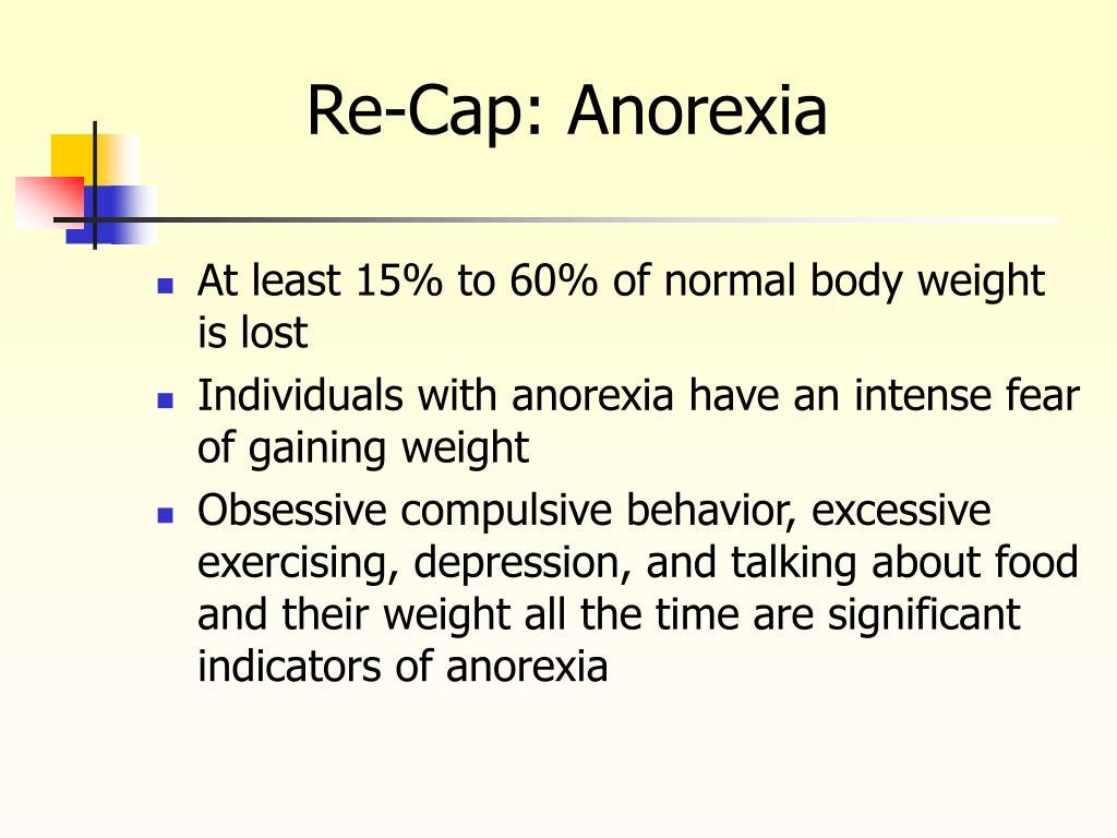 Re-Cap: Anorexia