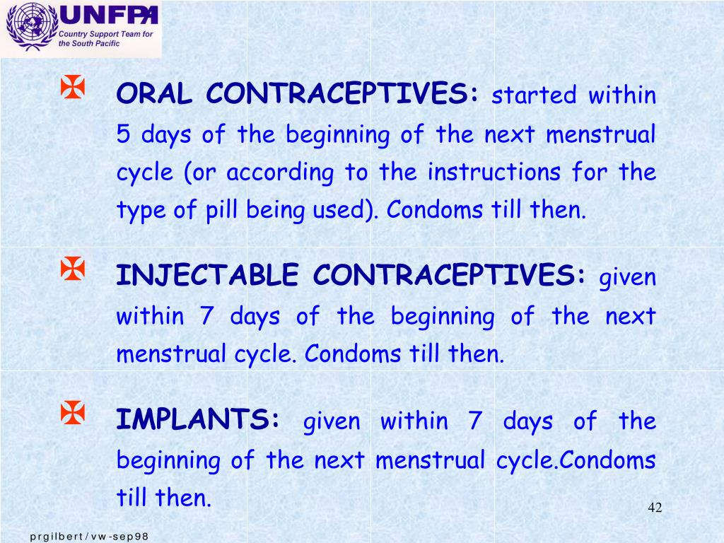 ORAL CONTRACEPTIVES: