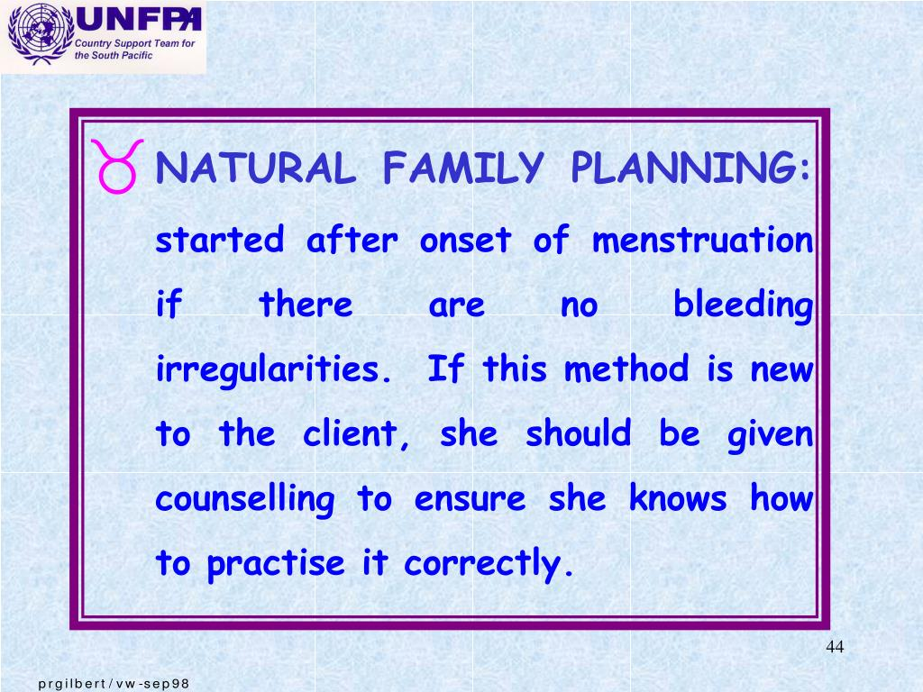 NATURAL FAMILY PLANNING: