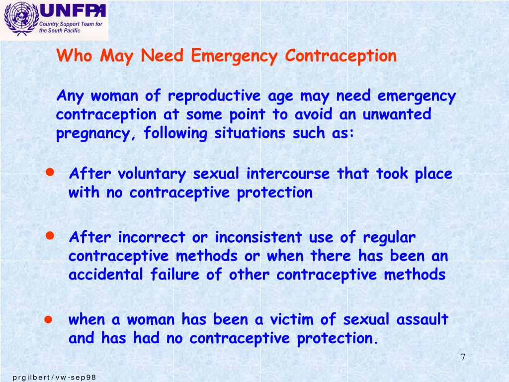 Who May Need Emergency Contraception