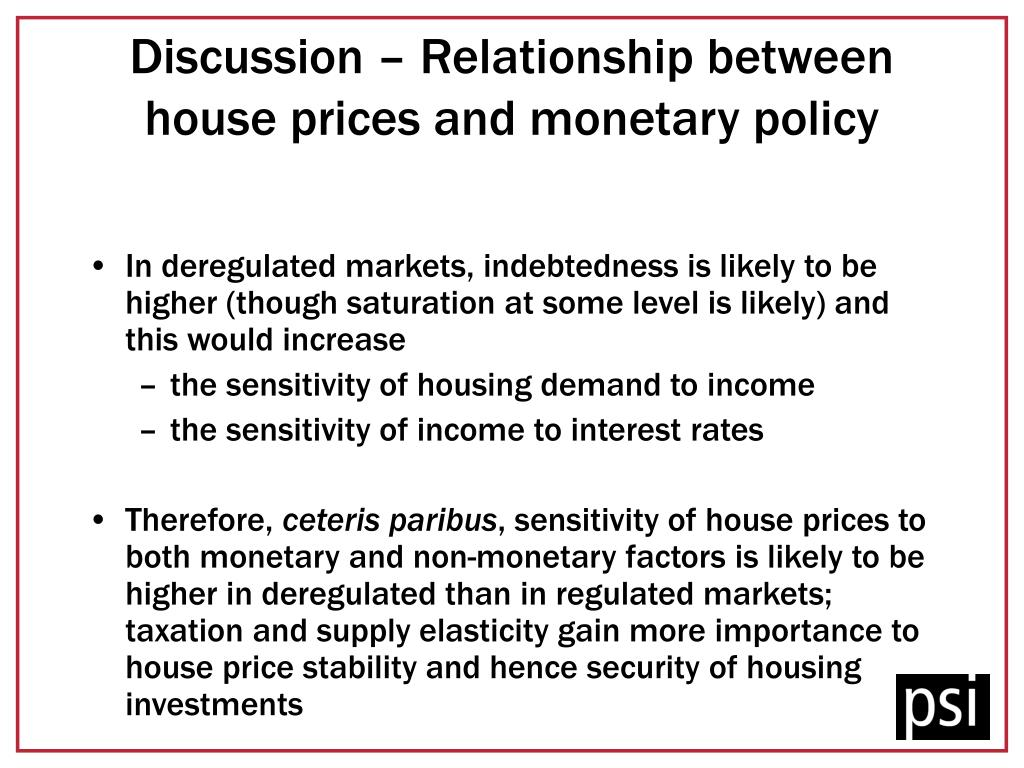 Discussion – Relationship between house prices and monetary policy