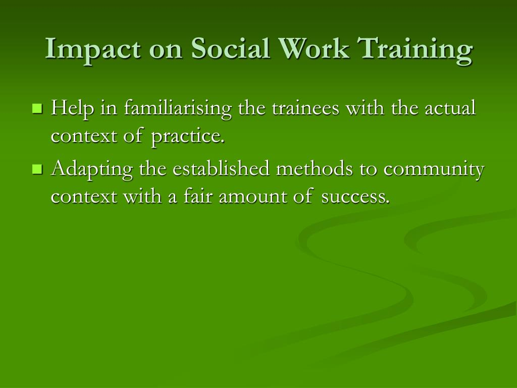 Impact on Social Work Training