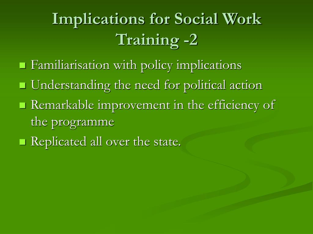 Implications for Social Work Training -2