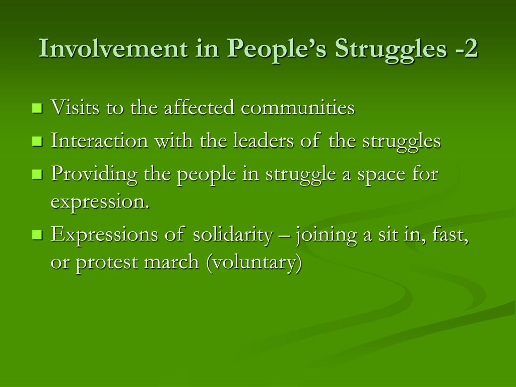 Involvement in People's Struggles -2