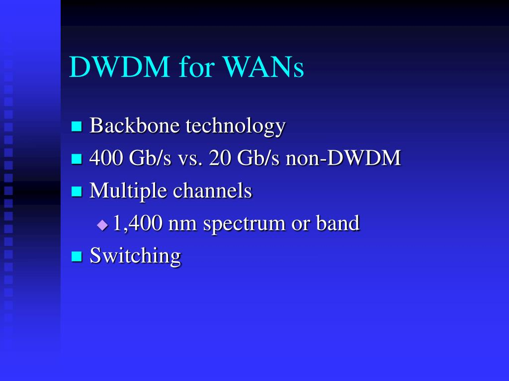 DWDM for WANs