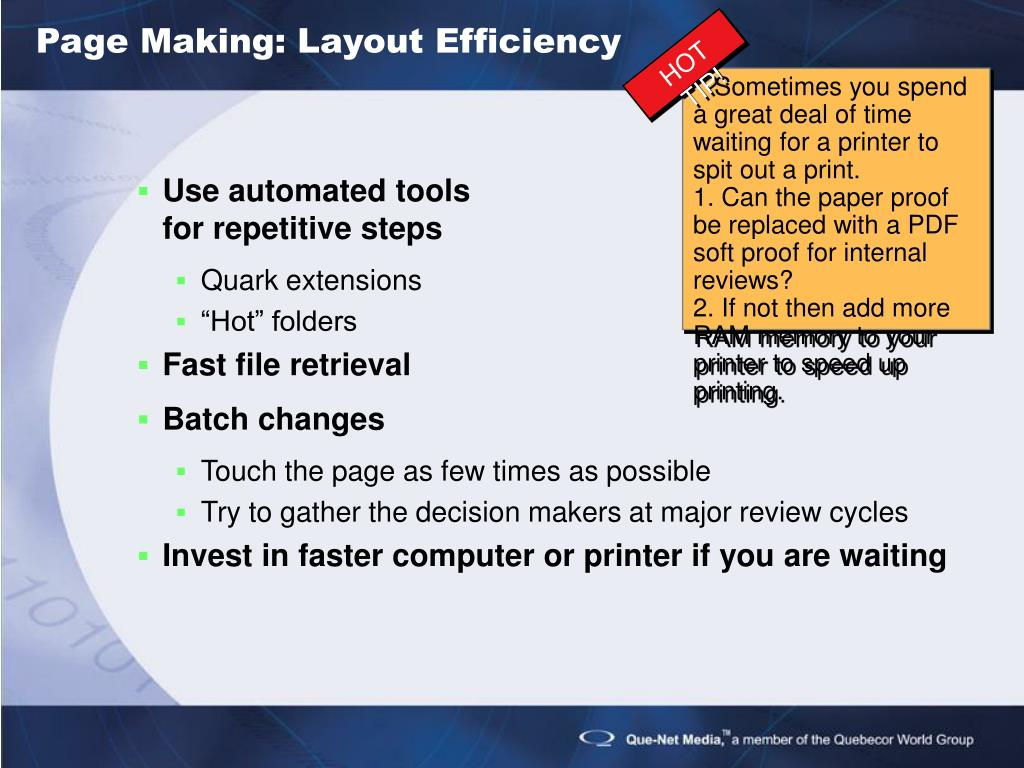 Page Making: Layout Efficiency