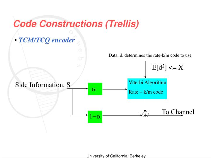 Code Constructions (Trellis)