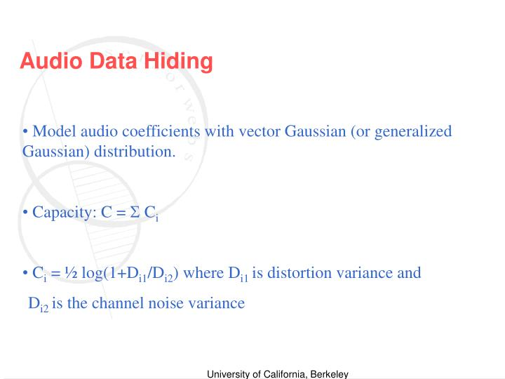 Audio Data Hiding