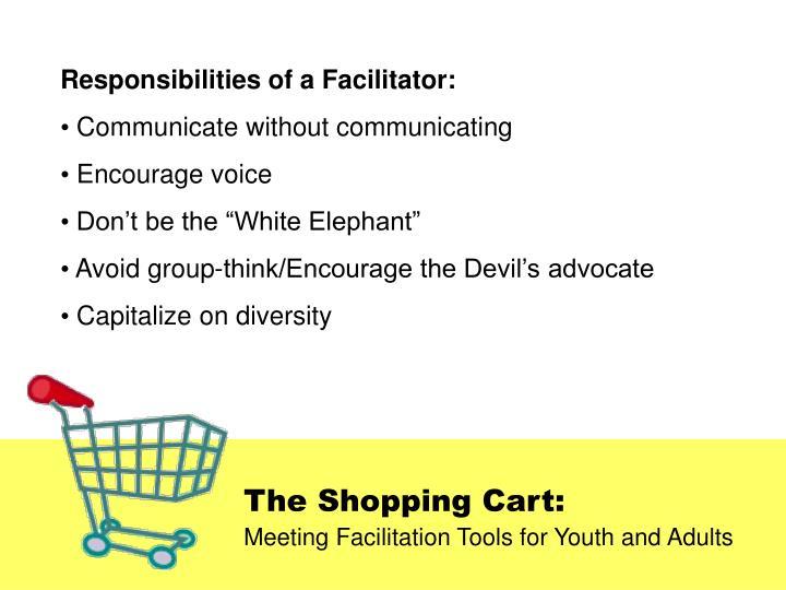 Responsibilities of a Facilitator: