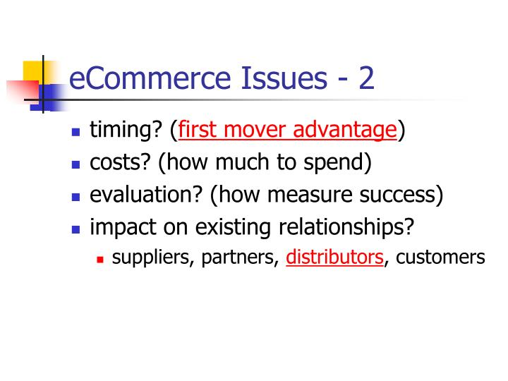 eCommerce Issues - 2