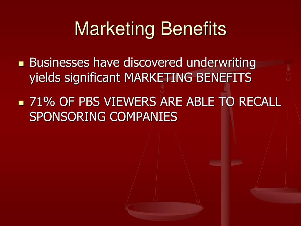Marketing Benefits