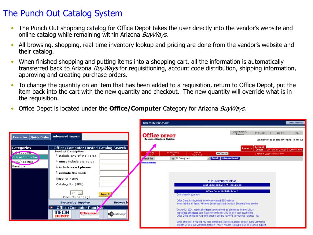The Punch Out Catalog System