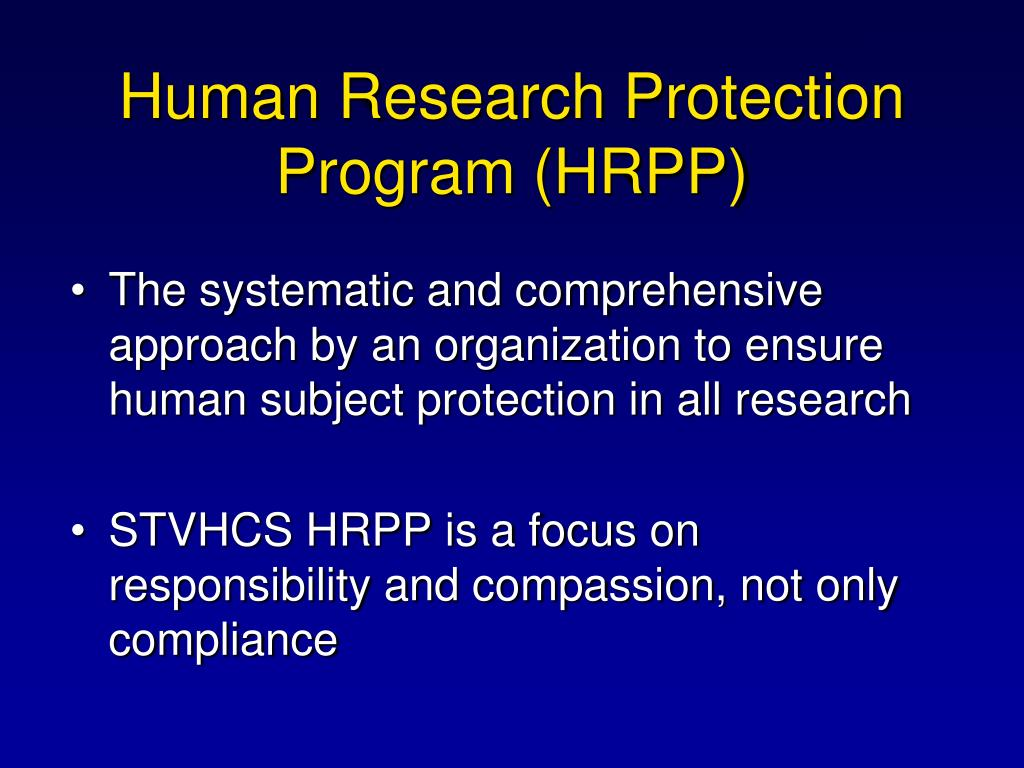 Human Research Protection Program (HRPP)