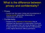 what is the difference between privacy and confidentiality