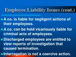 employee liability issues cont