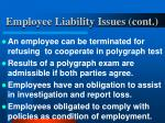 employee liability issues cont13