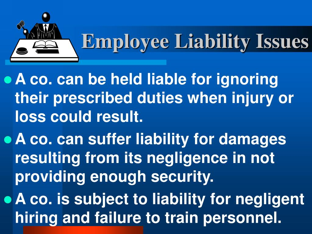 Employee Liability Issues