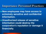 importance personnel practices15