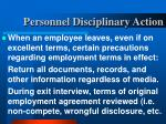 personnel disciplinary action29