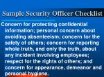 sample security officer checklist23