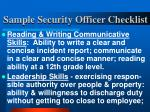 sample security officer checklist24