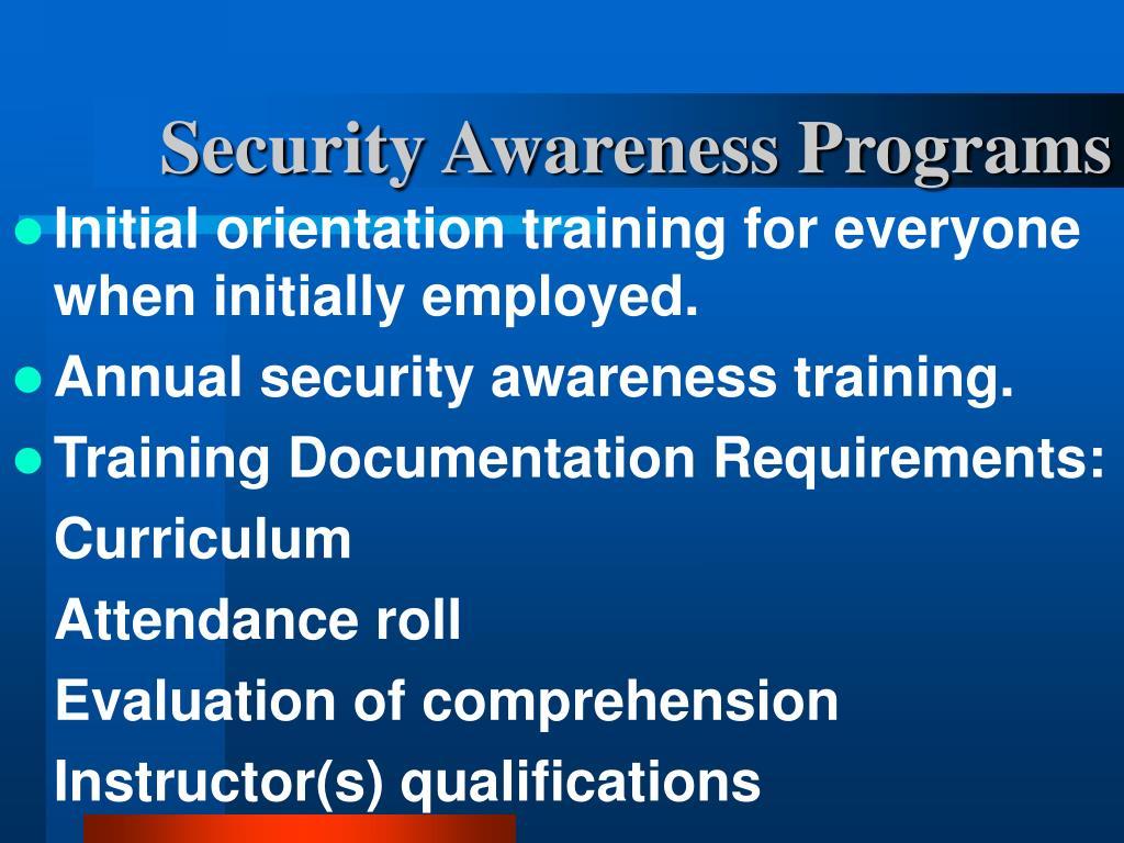 Security Awareness Programs