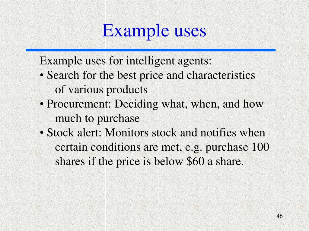 Example uses