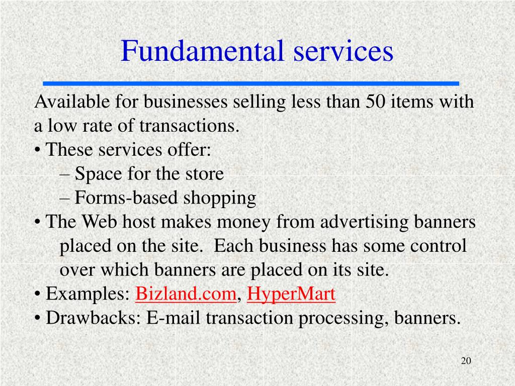 Fundamental services